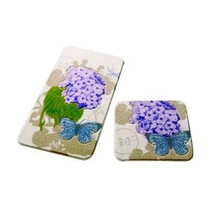 Sada 2 kúpeľňových predložiek Confetti Bathmats Pia Purple