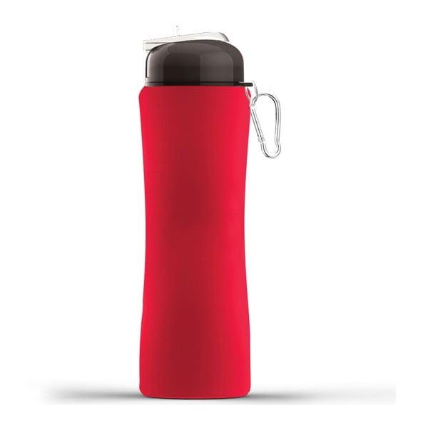 Športová fľaša Sili-Squeeze, červená, 650 ml