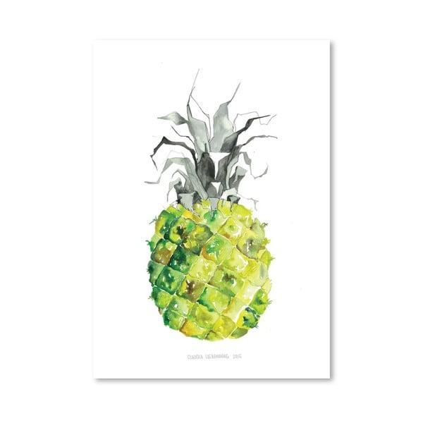 Plagát Pineapple Yellow, 30x42 cm
