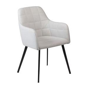 Sivá jedálenská stolička s opierkami na ruky DAN–FORM Embrace