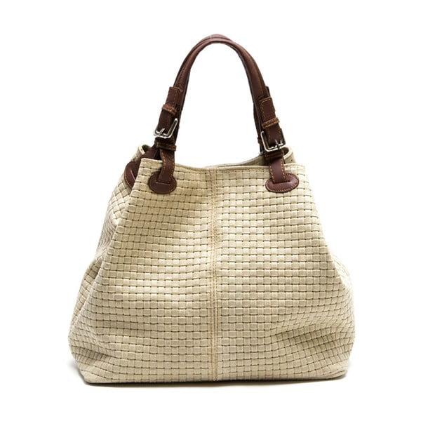 Kožená kabelka Isabella Rhea 858, béžová