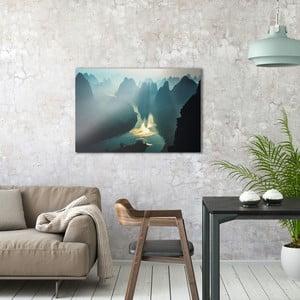 Sklenený obraz OrangeWallz Mountains, 60 x 90 cm