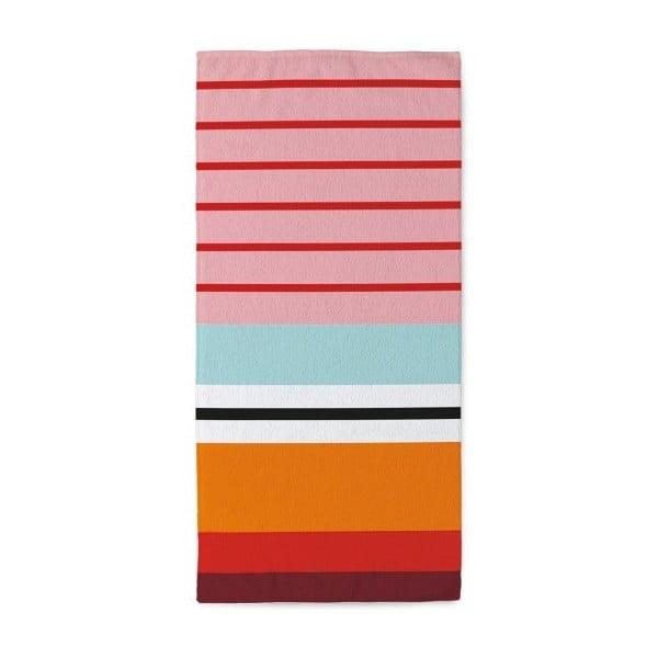 Uterák Remember Stripes Red, 50 x 100 cm