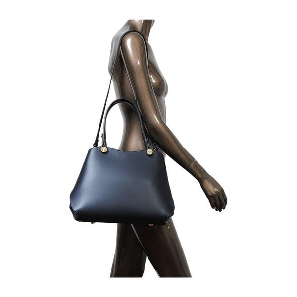 Tmavomodrá kožená kabelka Andrea Cardone 2038