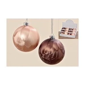 Sada 12 ks vianočných gulí Brown Winter