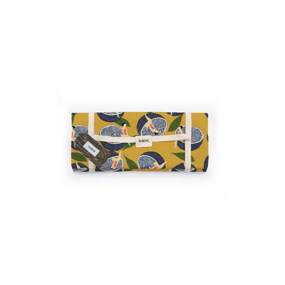 Piknik deka Surdic Manta Picnic Lemmon s motívom citrónov, 140 x 170 cm