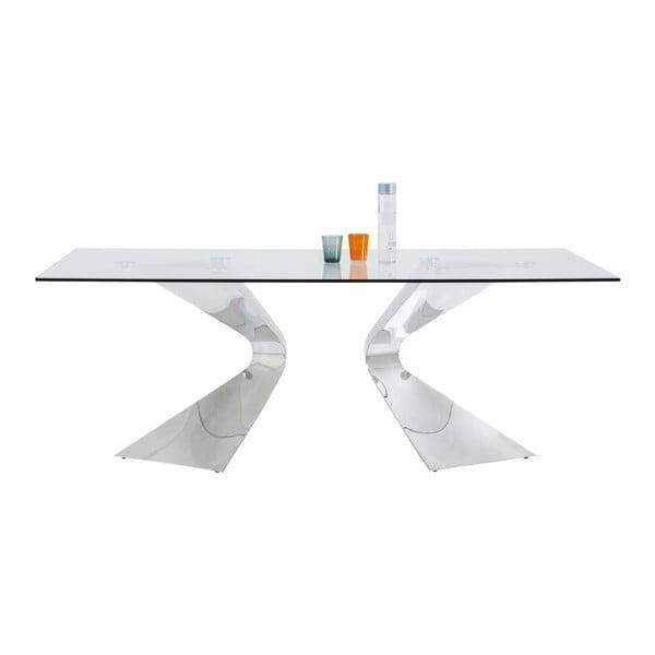 Jedálenský stôl s nohami v striebornej farbe Kare Design Gloria