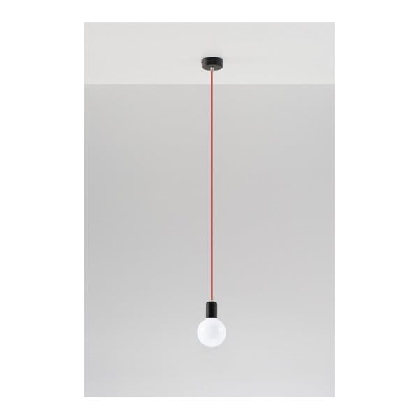 Čierno-červené stropné svetlo Nice Lamps Bombilla