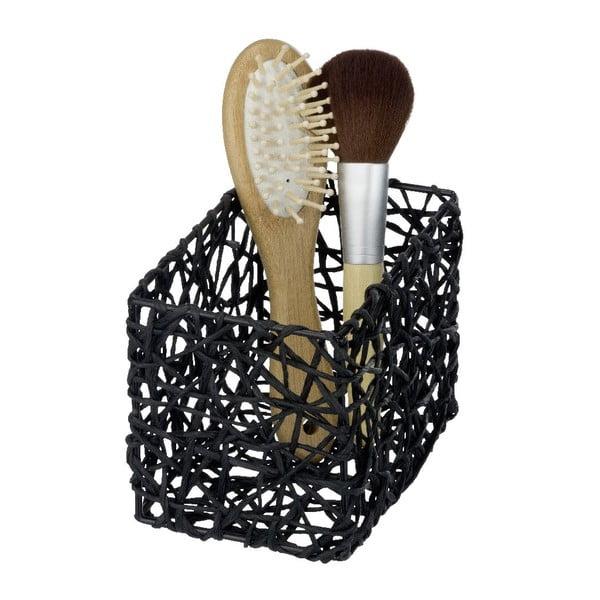 Čierny kúpeľňový košík Wenko Curly