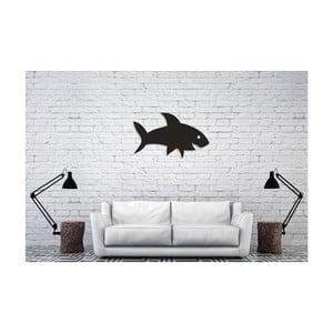 Čierna nástenná dekorácia Oyo Concept Shark, 38,5×60 cm