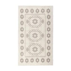 Krémový bavlnený koberec Floorist Emily, 80x300cm