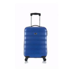 modrý príručný kufor na kolieskach Blue Star Bilbao, 35 l