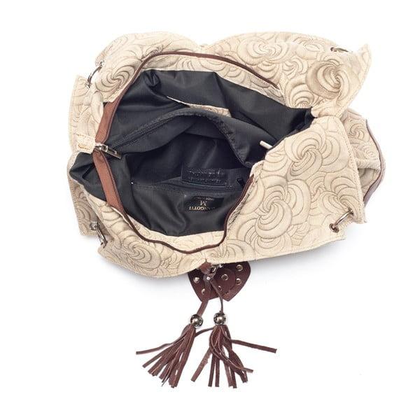 Kožená kabelka Mangotti 8002, kameň