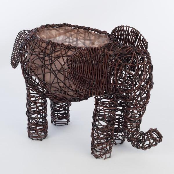 Dekoratívny ratanový kvetináč Elephant