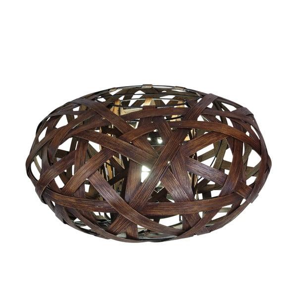 Hnedá stolová lampa Naeve Korb