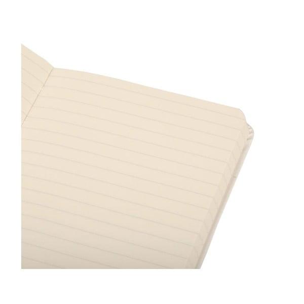 Zápisník Moleskine White Hard PKT, linajkový