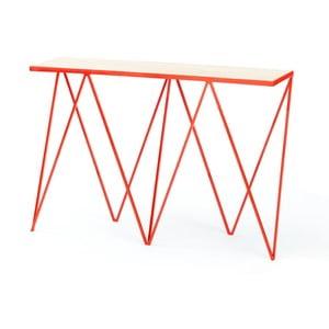Červený konzolový stolík &New Giraffe
