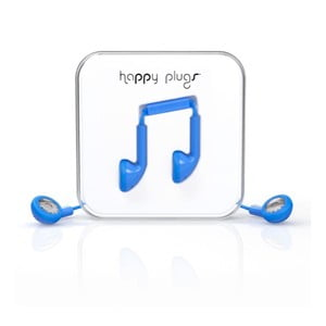 Slúchadlá Happy Plugs, modré