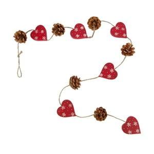 Girlanda Antic Line Hearts and Pinecones