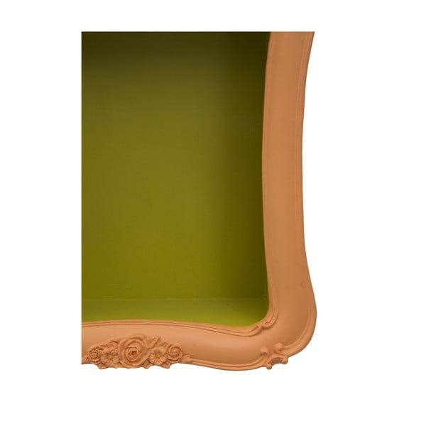 Oranžová polica so zelenými detailmi Mauro Ferretti Arancio Simple
