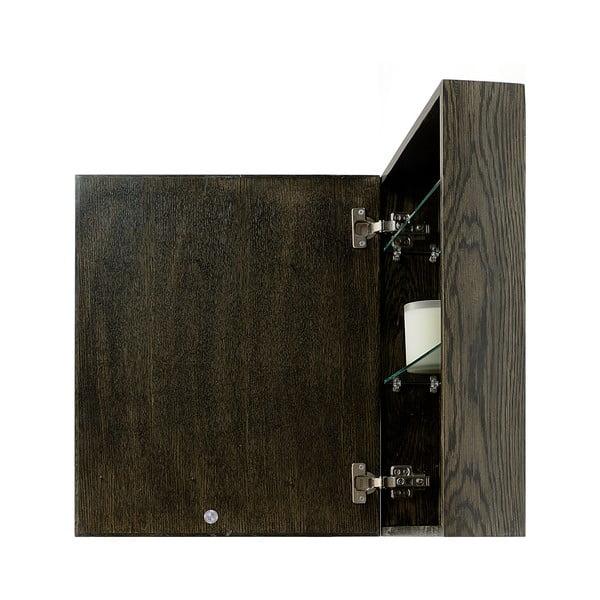Zrkadlo s úložným priestorom z dubového dreva Mezza Dark Wireworks, 45 x 55 cm