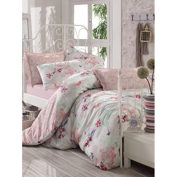 Ružové obliečky s plachtou Love Colors Molly, 200 x 220 cm