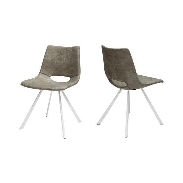 Sada 4 sivých stoličiek Canett Coronas