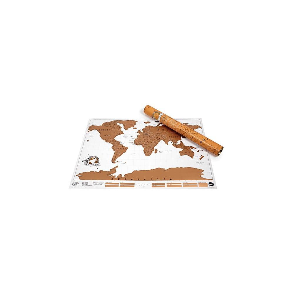 Stieracia nástenná mapa sveta Ambiance Scratch Map