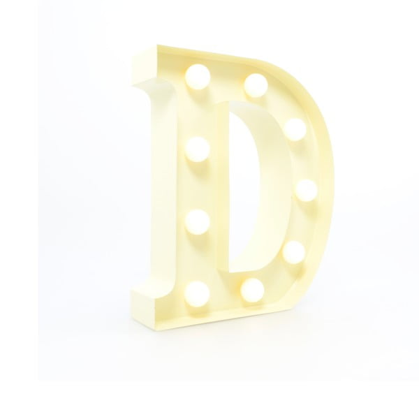 Dekoratívne svetlo Carnival D, vanilkové