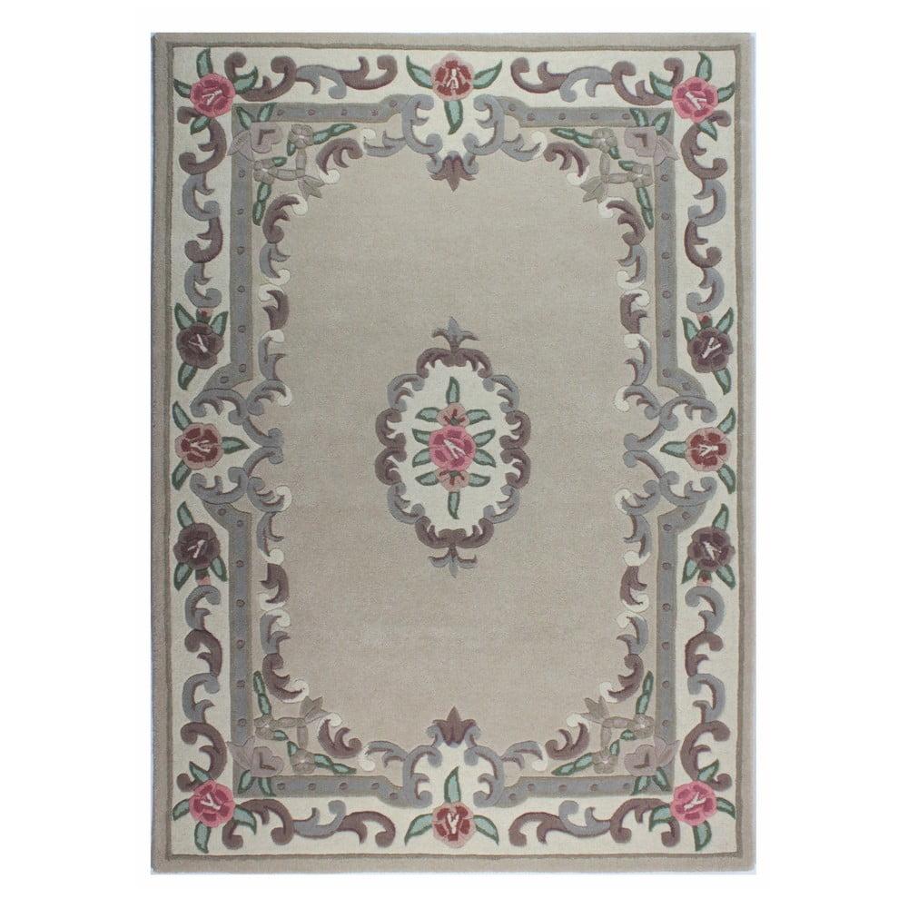 Béžový vlnený koberec Flair Rugs Aubusson, 120 × 180 cm