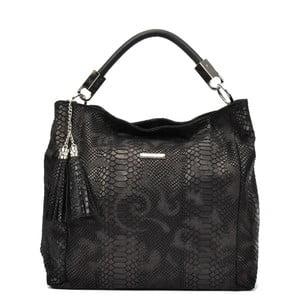 Čierna kožená kabelka Carla Ferreri Lisma