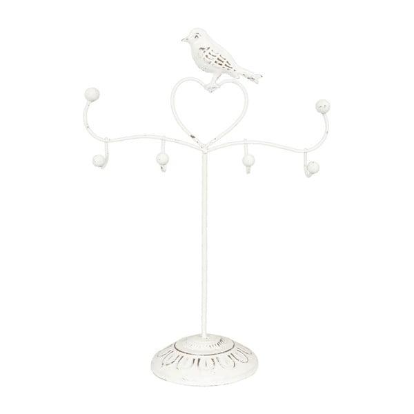 Stojan na šperky s bielymi vtáčikmi Birdie, 30 cm