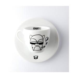 Hrnček na espresso s tanierikom FOR.REST Racoon, 100 ml