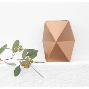 Skladacie origami váza SNUG.Low Copper