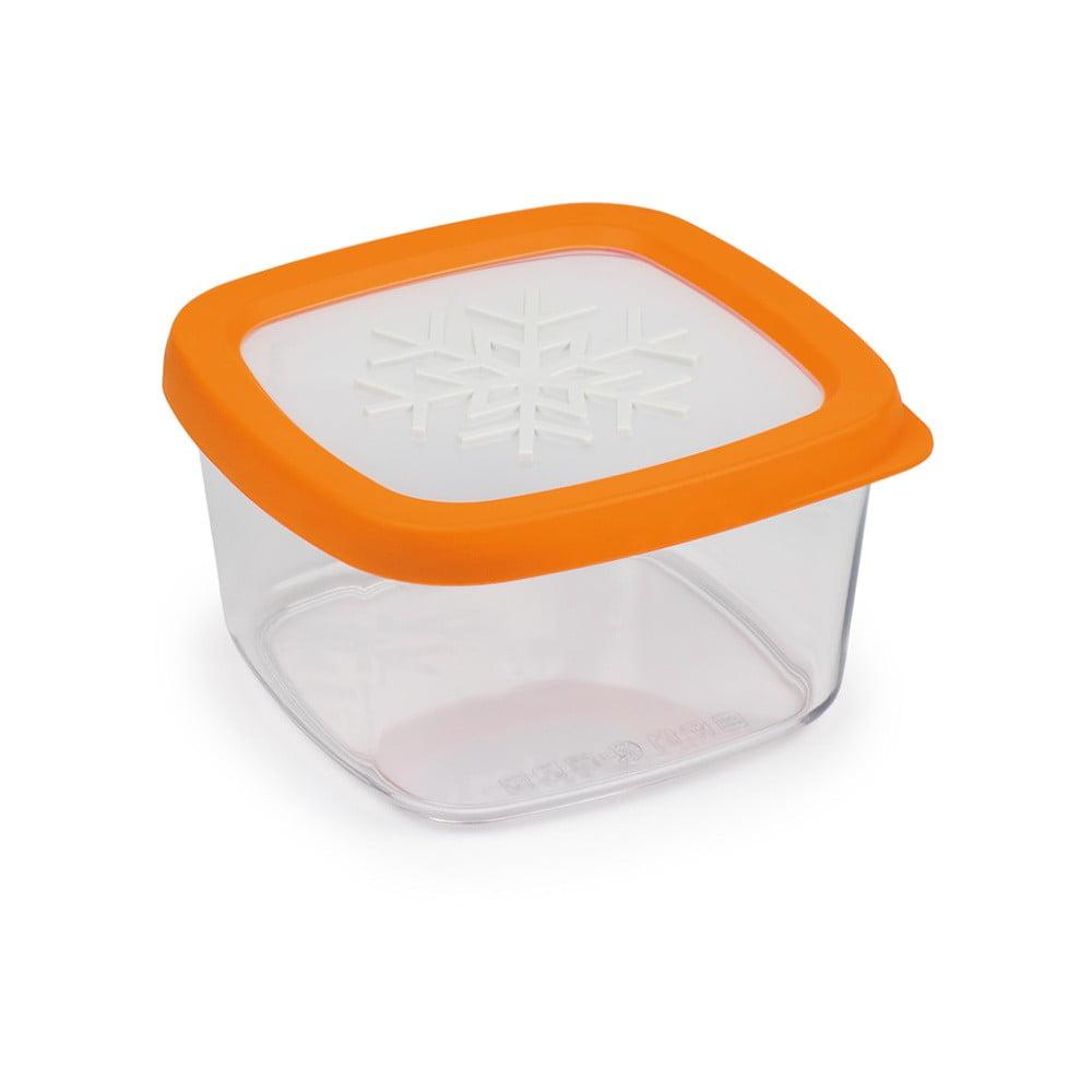 Oranžová dóza na potraviny Snips Snowflake, 1 l