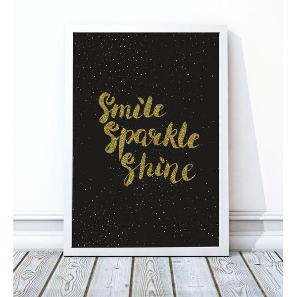 Zarámovaný plagát Shine, 40x50 cm