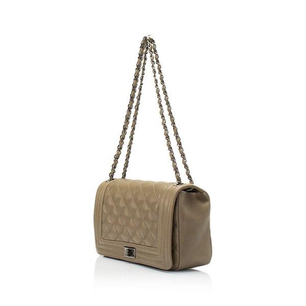 Béžová kožená kabelka Lisa Minardi Silviana