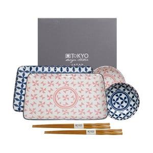 6-dielny ružovo-modrý set Tokyo Design Studio Geo Eclectic