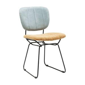 Modro-žltá jedálenská stolička Kare Design Malmo