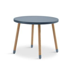 Modrý detský stolík Flexa Play, ø 60 cm