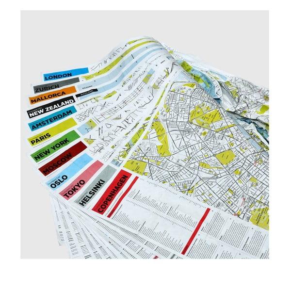 Pokrčená cestovná mapa Palomar Kodaň