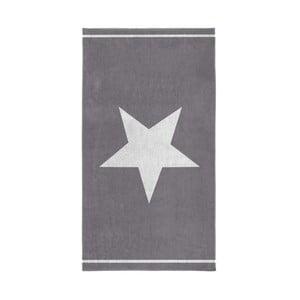 Sivá osuška Seahorse Star, 100x180cm