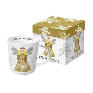 Porcelánový hrnček s vianočným motívom v darčekovom balení PPD Send Me An Angel, 350 ml