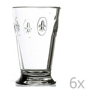 Sada 6 pohárov Fleur de Lys, 300 ml