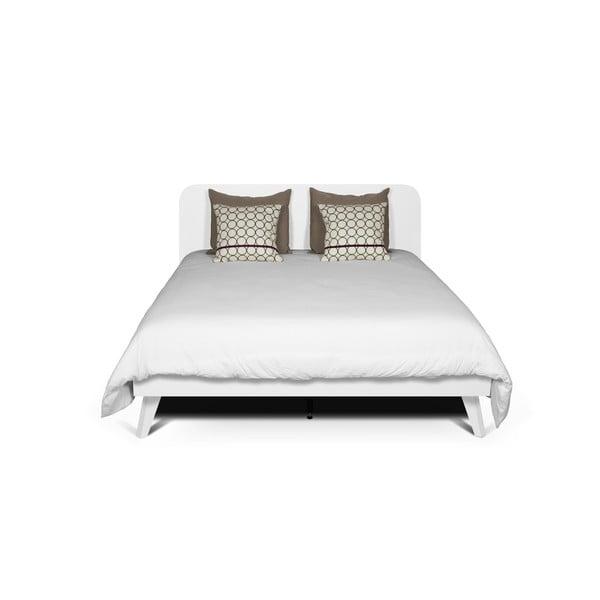 Biela posteľ TemaHome Mara, 180 × 200 cm
