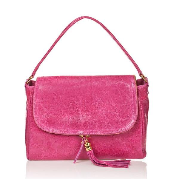 Kožená kabelka Bela, ružová