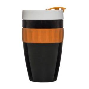 Termohrnček Sagaform To Go Mug, 400ml, čierno-oranžový