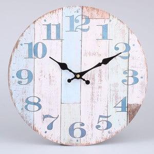 Drevené hodiny Blue Country, 34 x 34 cm