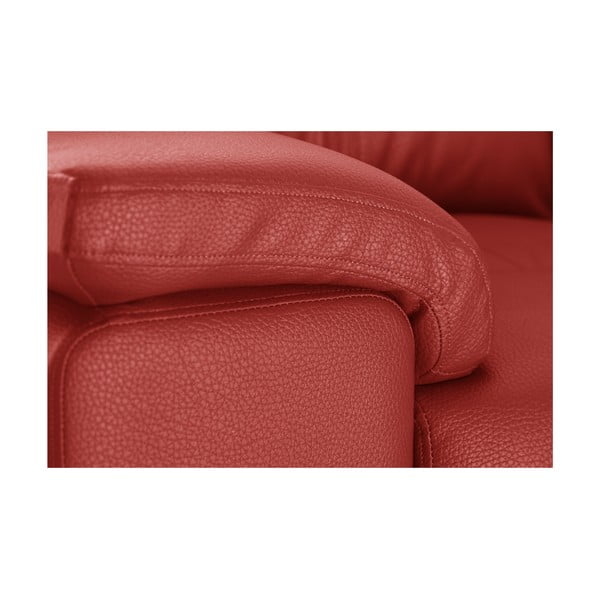 Červená rohová pohovka Corinne Cobson Home Babyface, pravý roh