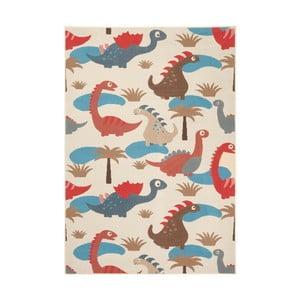 Detský červeno-hnedý koberec Zala Living Dino, 140×200cm